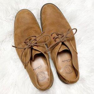 🍩Clarks Farli Walk Leather Oxford Shoe Tan 8.5